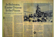 The New York Times - IN SULMONA, EASTER DRAMA IN THE PIAZZA